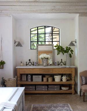 окно в ванной в стиле прованс