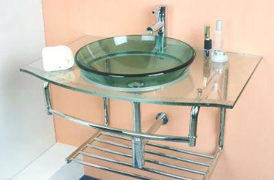 стеклянный умывальник для ванной