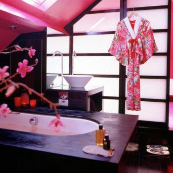 декор ванной в японском стиле