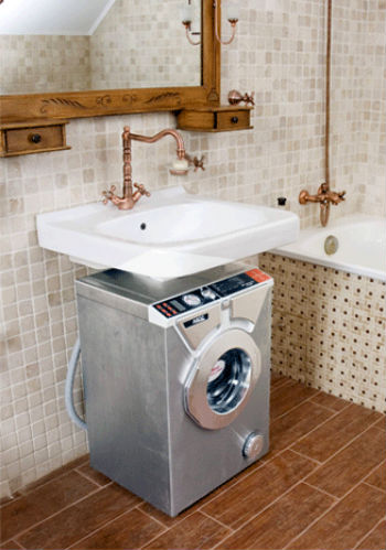 раковина над стиральной машиной фото