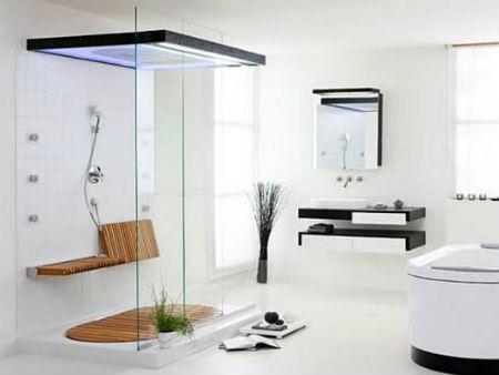 ванна в стиле хай тек