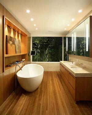 пол ванной в деревянном доме