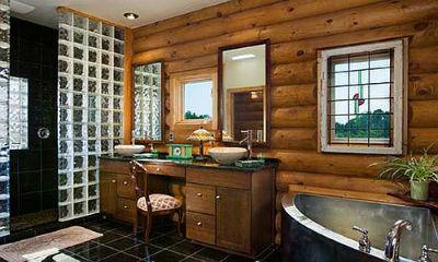 ванна в деревянном доме фото