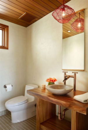 ванна в деревянном доме