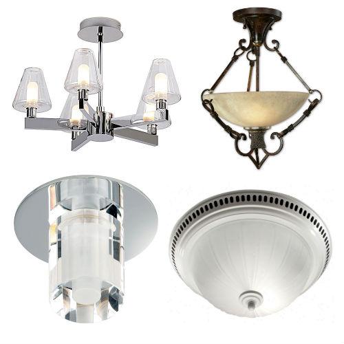 светильники на потолок в ванной