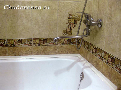 акриловый вкладыш на чугунной ванне