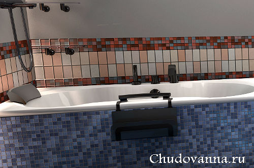 поручни на краю ванной