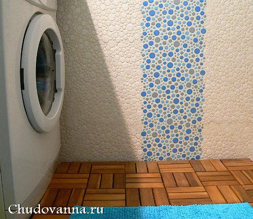 Отделка стен ванной декоративной штукатуркой