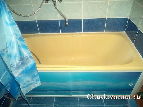 экран под ванну с фотопечатью