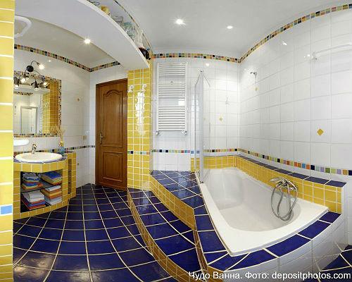 сочетание цветов в ванной фото