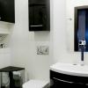 Черно-белая ванна комната