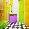 Ванная комната в ярком цветовом решении