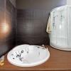 Ванная комната с джакузи и душевой
