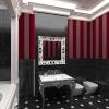 Классическая ванная комната в черно-красных тонах