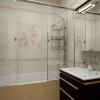 Плитка с рисунком в интерьере ванной комнаты