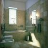 Ванная комната с отделкой плиткой и мозаикой