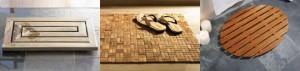 деревянный коврик для ванной