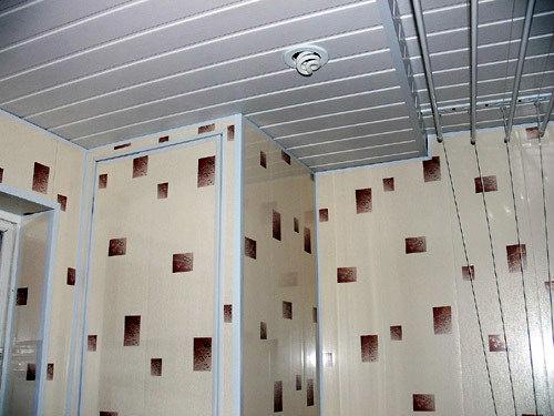 ванной комнаты пластиковыми панелями