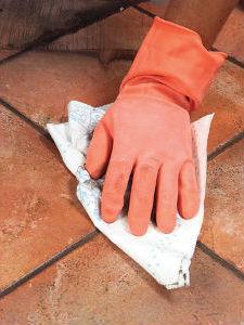 удаление остатков затирки для плитки в ванной