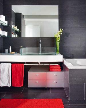 Черно-белая ванная комната: фото, идеи