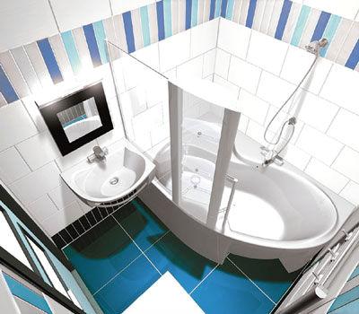 интерьер маленькой ванной комнаты фото
