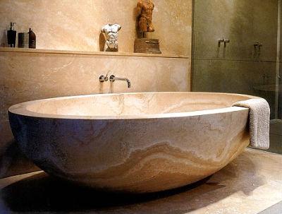 ванна из литого мрамора