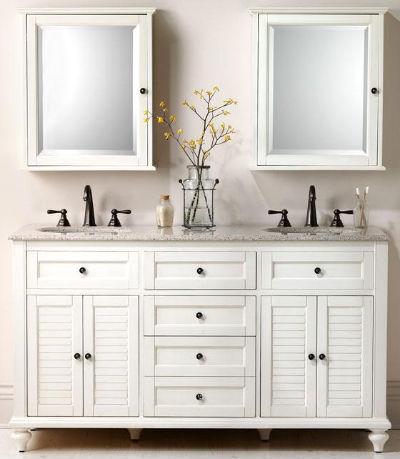 зеркальный шкаф в ванной комнате