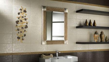 отделка стен в ванной керамической плиткой