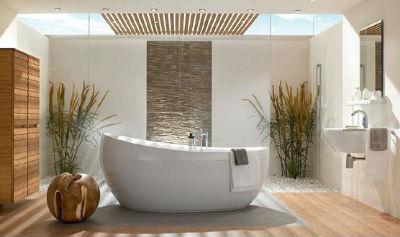 декор ванной комнаты в японском стиле