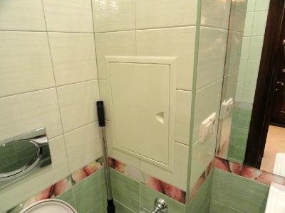 облицовка короба для труб в ванной плиткой