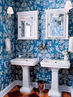 обои в ванной комнате