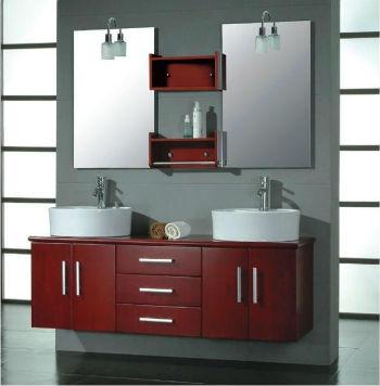 двойная раковина в ванной комнате