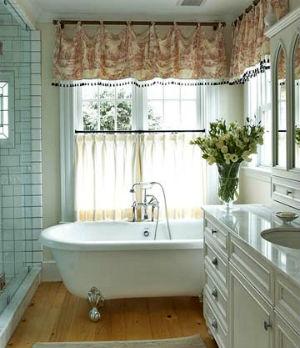 занавески в ванной