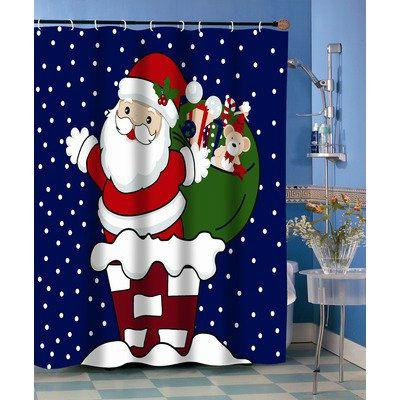 новогодняя шторка в душ