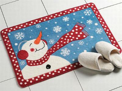 новогодний коврик для ванной