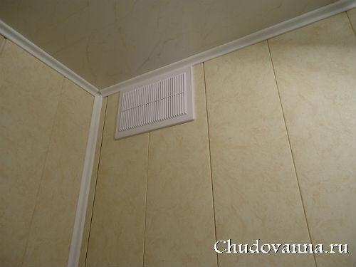 Пластиковые стеновые панели в ванной