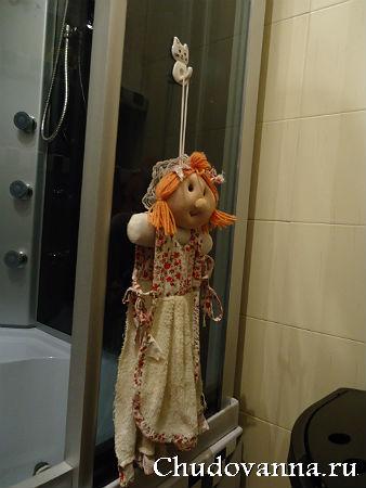 кукла-полотенце для стирания капель со стенок кабинки