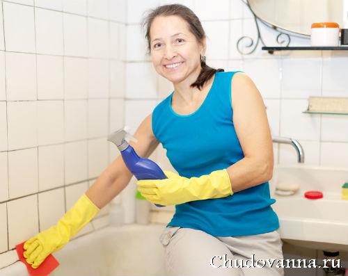 Как отчистить старую ванну?