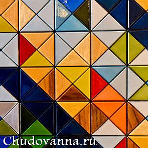 укладка кафеля треугольной формы