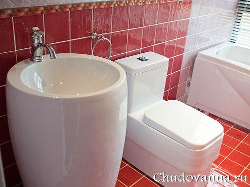 современная раковина в ванной комнате