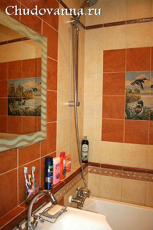 маскировка труб в ванной