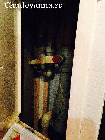 маскировка канализационных труб