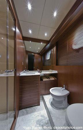 ванна в коричневом цвете