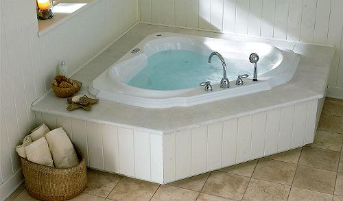 Вариант отделки угловой ванны фото