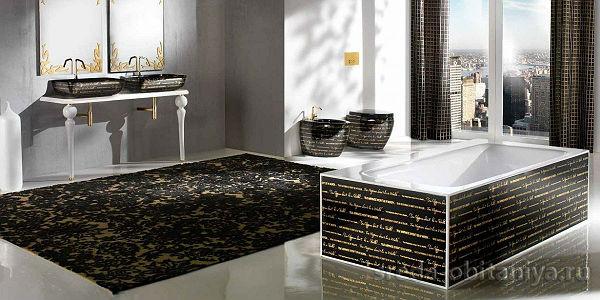 отдельностоящая стильная ванна