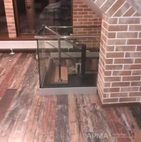 Ограждение для лестниц из стекла